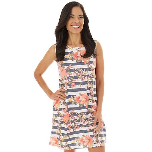 10745609def9 Women's Apt. 9® Printed Sleeveless Swing Dress