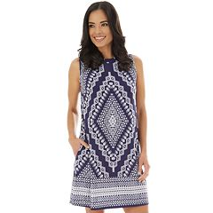 2247976c Women's Apt. 9® Printed Sleeveless Swing Dress