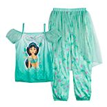 Disney's Aladdin Jasmine Girls 4-8 Top & Bottoms Fantasy Pajama Set