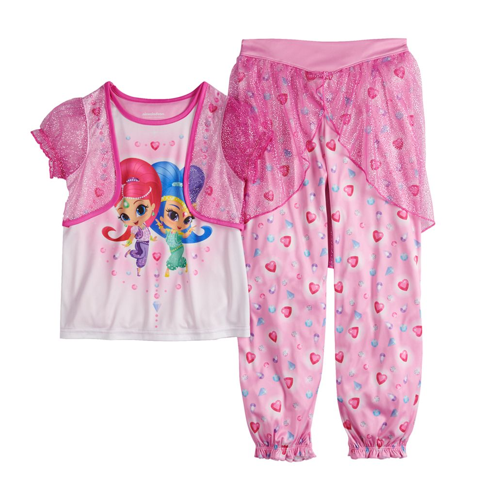 Girls 4-8 Shimmer & Shine Top & Bottoms Pajama Set