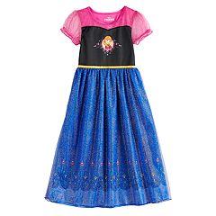 37c63a39a24e3 Disney's Frozen Anna Girls 4-8 Fantasy Gown Nightgown
