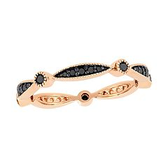 Stella Grace 10k Gold 1/4 Carat T.W. Black Diamond Band