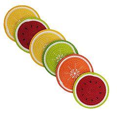 Celebrate Summer Together 6-pc. Citrus Fruit Coaster Set