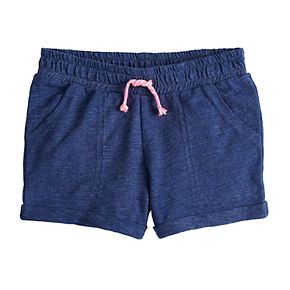 Toddler Girl Jumping Beans® Rolled-Cuff Slubbed Shorts