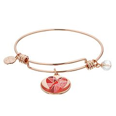 love this life 'Wonderful Daughter' & Heart Charm Bangle Bracelet