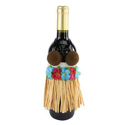 Celebrate Summer Together Hula Skirt Wine Bottle Cover