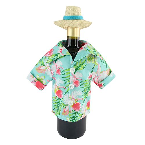 Celebrate Summer Together Hawaiian Shirt Wine Bottle Cover