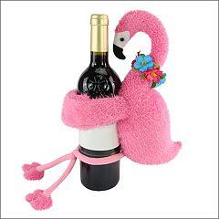 Celebrate Summer Together Flamingo Wine Bottle Hugger