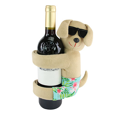 Celebrate Summer Together Beach Dog Wine Bottle Hugger