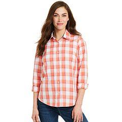 cdd7bec28278f Women s IZOD Print Poplin Shirt