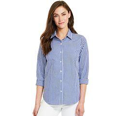 Women's IZOD Print Poplin Shirt