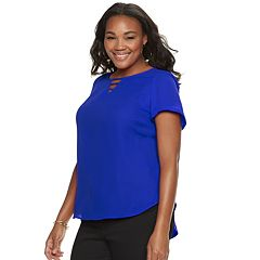 Plus Size Apt. 9® Ladder Front Blouse
