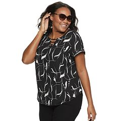 692bfc406e782 Plus Size Apt. 9® Ladder Front Blouse