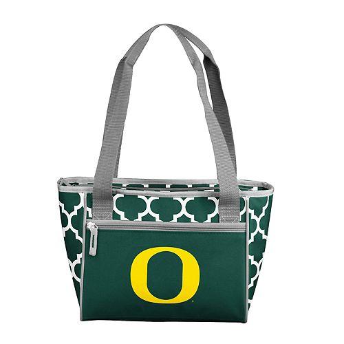 Logo Brand Oregon Ducks Quatrefoil 16-Can Cooler Tote
