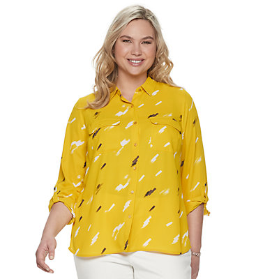Plus Size Apt. 9® Georgette Blouse