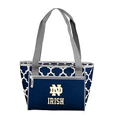 Logo Brand Notre Dame Fighting Irish Quatrefoil 16-Can Cooler Tote