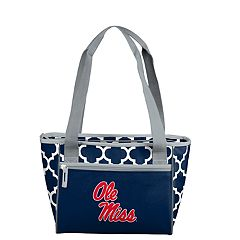 Logo Brand Ole Miss Rebels Quatrefoil 16-Can Cooler Tote