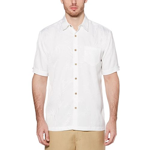 Big & Tall Cubavera Classic-Fit Jacquard Easy-Care Button-Down Shirt