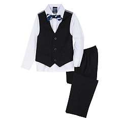 Toddler Boy IZOD Holiday Vest, Shirt, Bow Tie & Pants Set