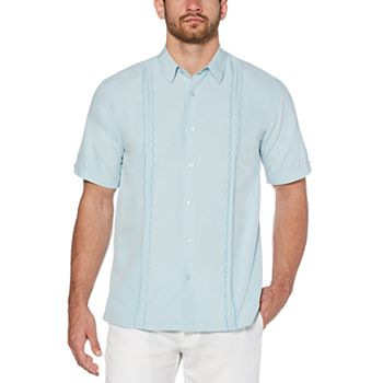 Men's Cubavera Classic-Fit Paneled Easy-Care Button-Down Shirt