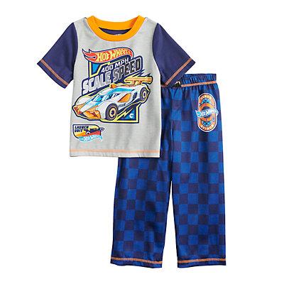 Toddler Boy Hot Wheels Cars Top & Bottoms Pajama Set