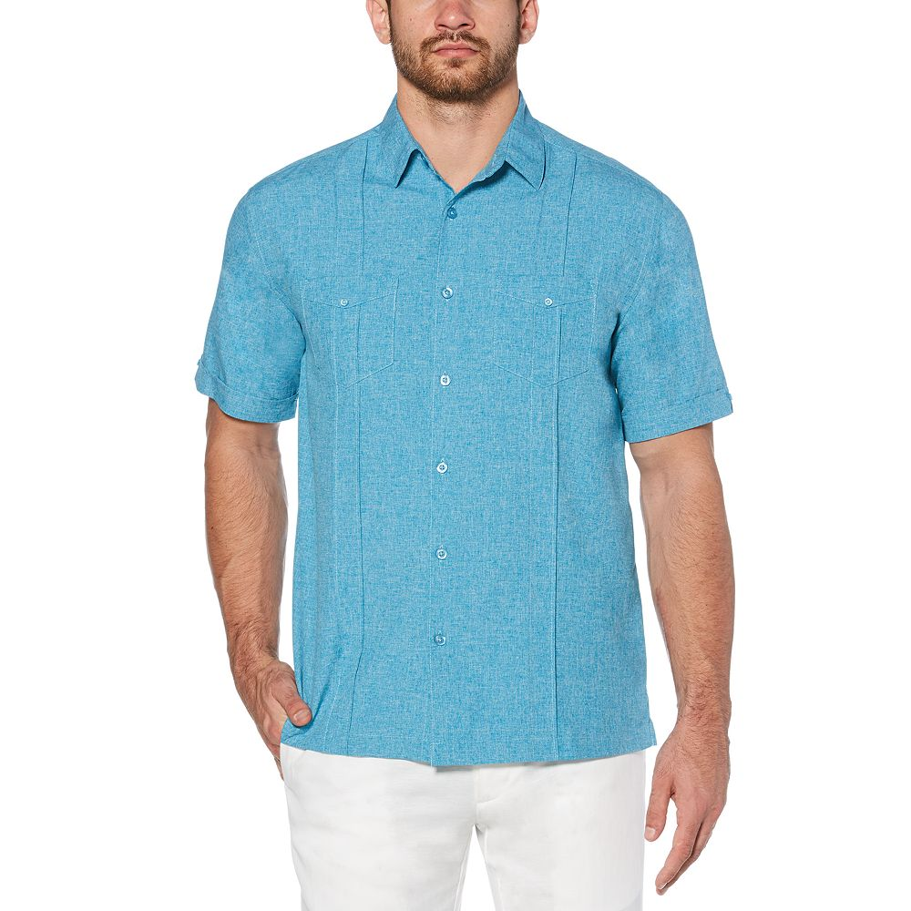 Big & Tall Cubavera Classic-Fit Paneled Easy-Care Button-Down Shirt
