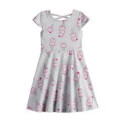 9b5a7e098 Girls 4-12 Jumping Beans® Print Skater Dress. Ice Cream ...