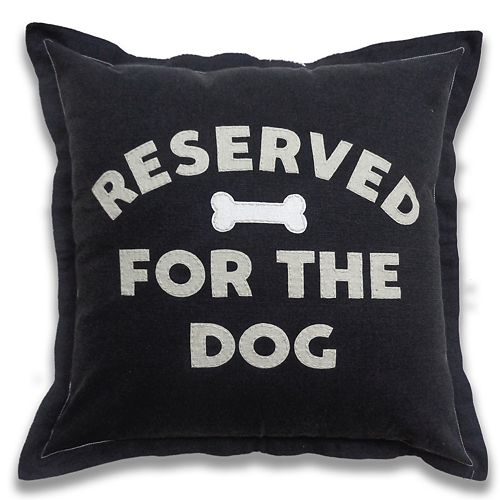 SONOMA Goods for Life® Ultimate Reserved for the Dog Feather Fill Throw Pillow