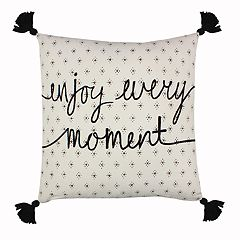SONOMA Goods for Life™ Enjoy Every Moment Feather Fill Throw Pillow