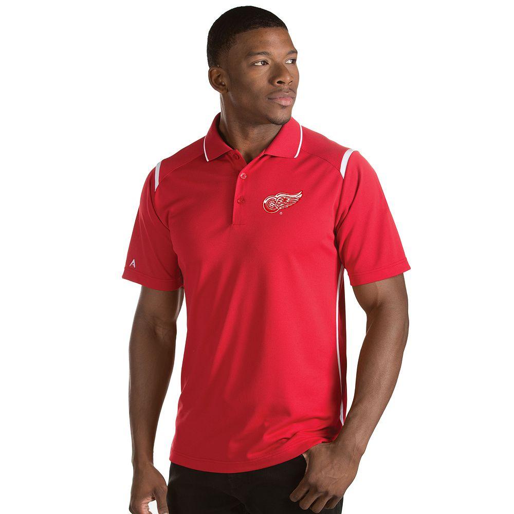 Men's Antigua Detroit Red Wings Merit Polo