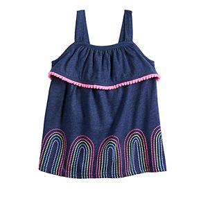 Baby Girl Jumping Beans® Pom-Trim Tank Top