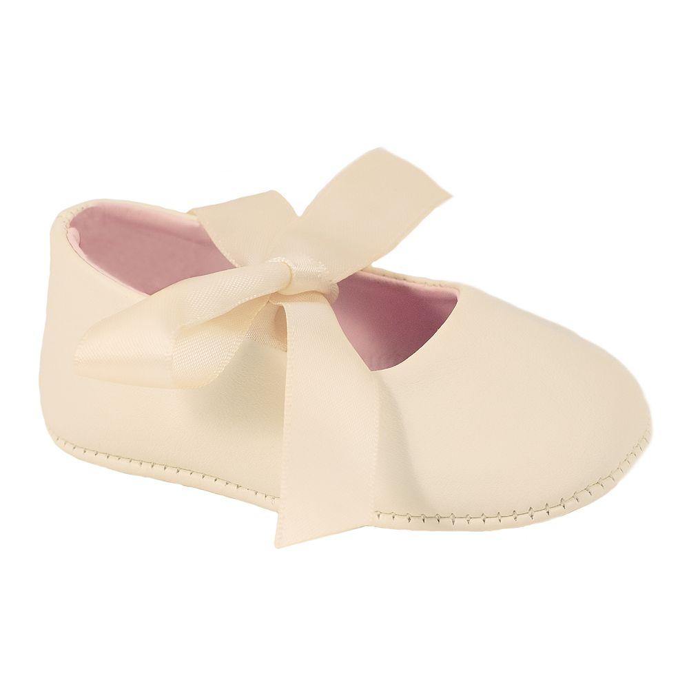 Baby Girl Wee Kids Ribbon Crib Shoes