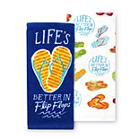 Celebrate Summer Together Better in Flip-Flops Kitchen Towel 2-pk.