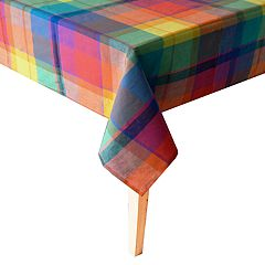 Celebrate Summer Together Plaid Tablecloth