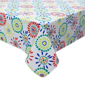 Celebrate Summer Together Medallion Vinyl Tablecloth
