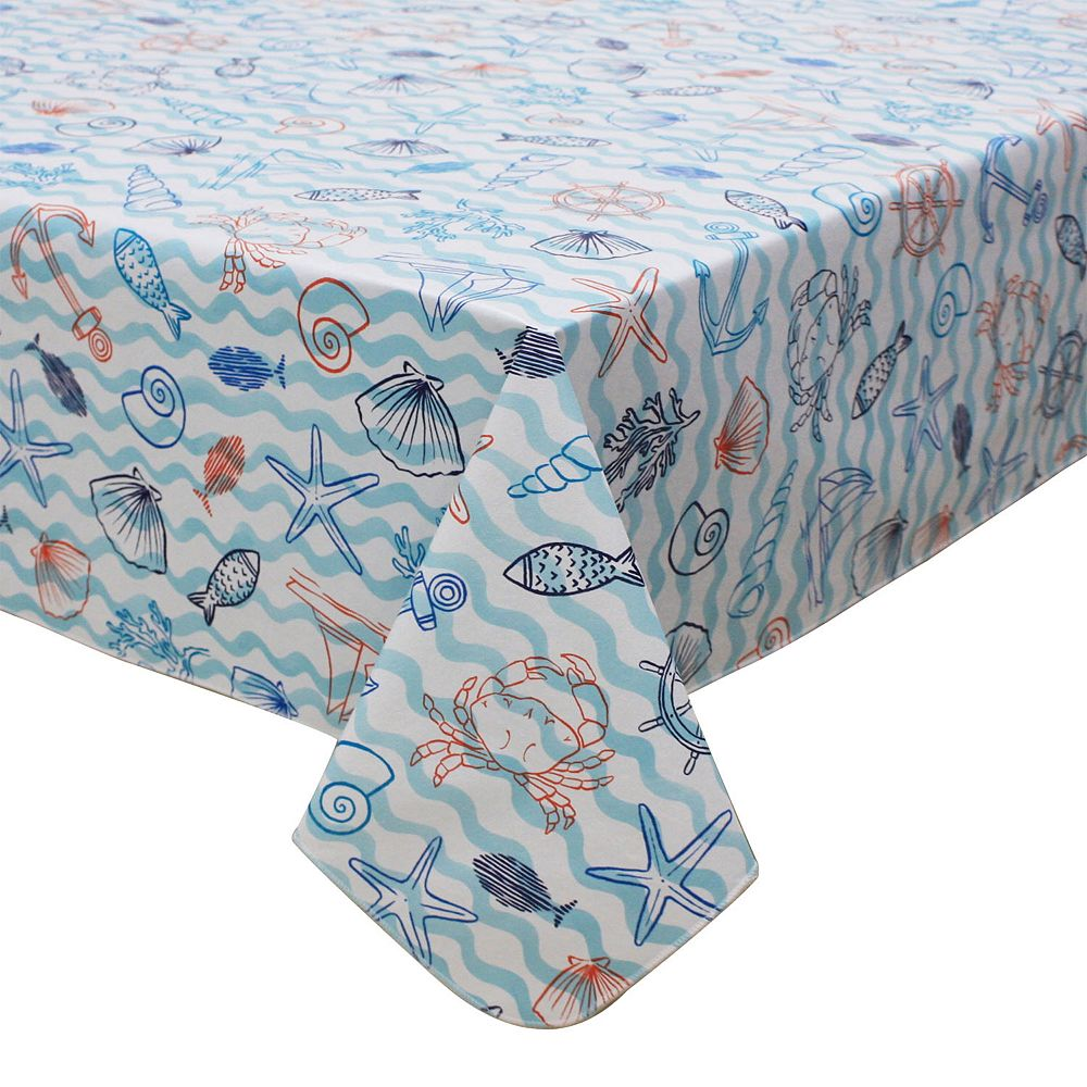 Celebrate Summer Together Nautical Vinyl Tablecloth