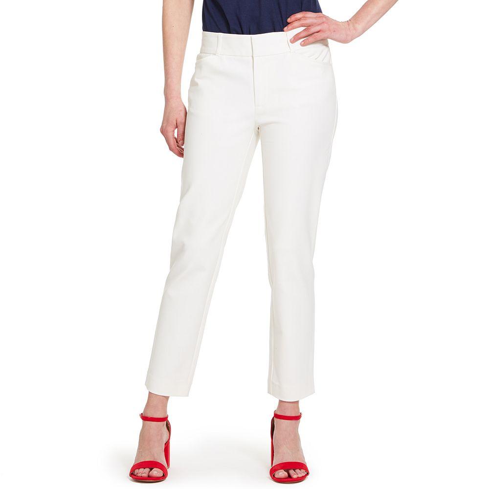 Women's IZOD Double Weave Slim-Leg Pants