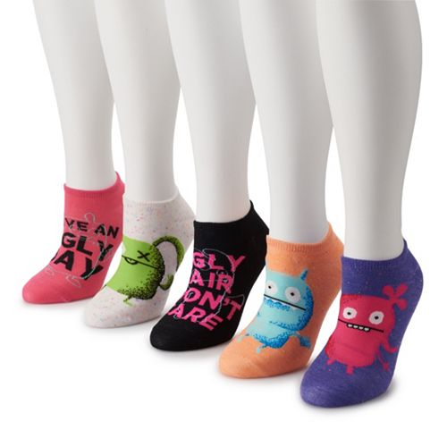 Women's Ugly Dolls 5-Pack No-Show Socks