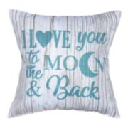 Spencer Home Decor I Love You to the Moon & Back Print Mini Throw Pillow