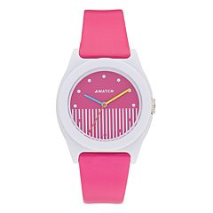 Armitron AWATCH Pink Striped Watch