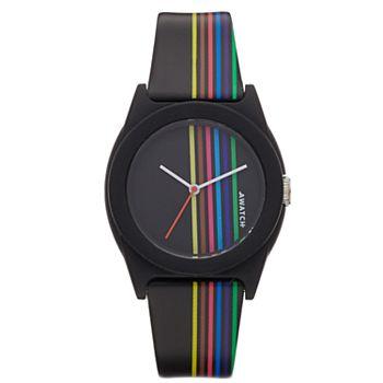 Armitron AWATCH Rainbow Striped Watch