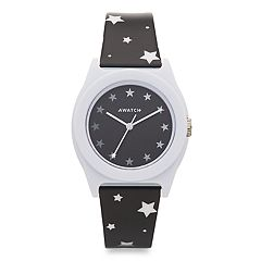 Armitron AWATCH Black & White Stars Watch