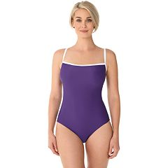 Women's Croft & Barrow® Ribbed Classic One-Piece Swimsuit
