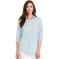 4874f8be2e Women s IZOD Weekend Linen-Blend Shirt