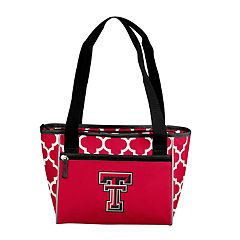 Logo Brand Texas Tech Red Raiders Quatrefoil 16-Can Cooler Tote