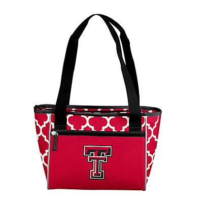Logo Brand Texas Tech Red Raiders Quatrefoil 16-Can Cooler Tote
