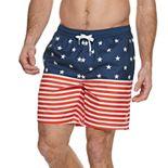 Men's Trinity Collective Stars & Stripes Full Elastic Swim Trunk