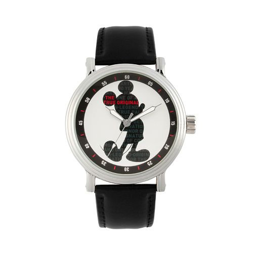 """Disney's Mickey Mouse 90th Anniversary Men's """"The True Original"""" Leather Watch"""