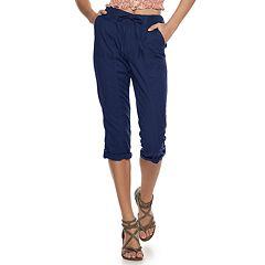 Juniors' SO® Knit Waist Roll Tab Hem Skimmer Pants