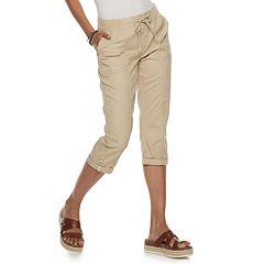 d370fb8eeb4da6 Juniors' SO® Knit Waist Roll Tab Hem Skimmer Pants